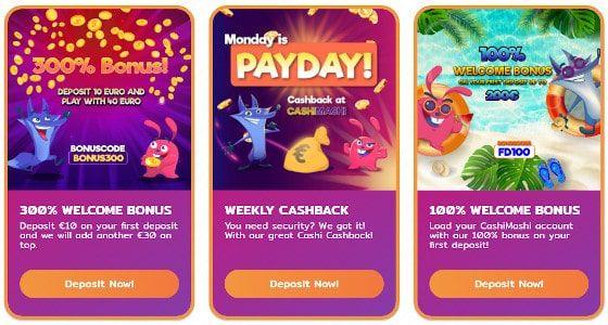 CashiMashi Casino tarjoukset