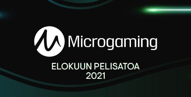 Elokuun pelisatoa Microgamingilta