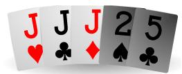 Kolmoset pokerikasi