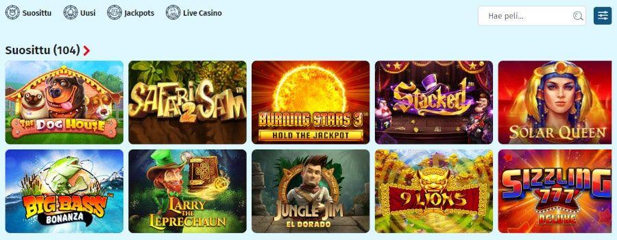 Lapilanders Casino pelit