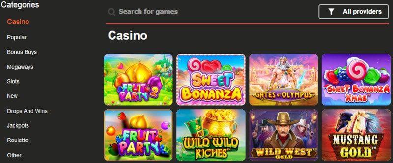 MadMoney Casino pelit