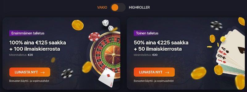 Praise Casino tarjoukset