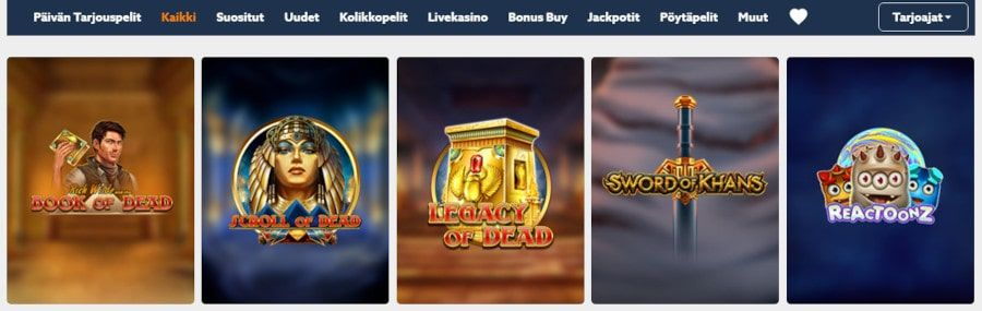 Scatters Casino pelit
