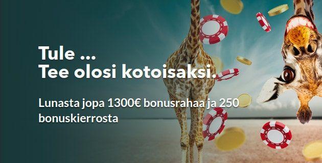 Skol Casino: 1300€ ja 250 ilmaiskierroksen bonuspaketti