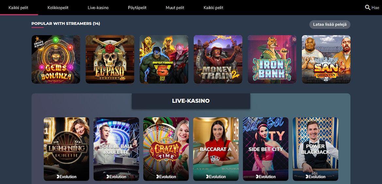 Supremo Casino pelit