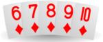 Värisuora pokerikasi