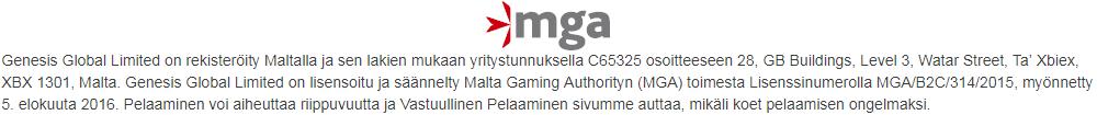 Vegasoo Casino lisenssi