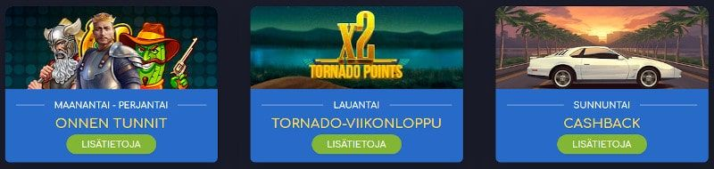 Wild Tornado Casino tarjoukset