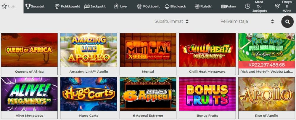 Dream Jackpot Casino pelit
