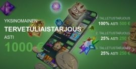 Fansbet Casinolta 1000€ bonuspaketti