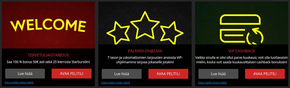 Jaak Casino tarjoukset