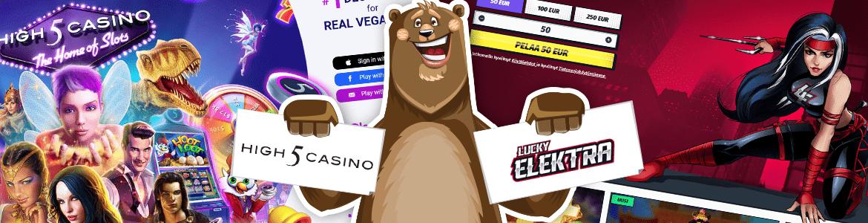 Vertaa nettikasinot: Lucky Elektra vs High5 nettikasino