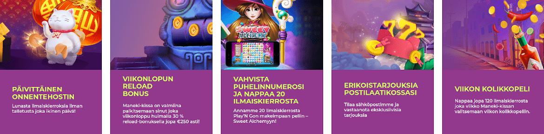 Maneki Casino tarjoukset
