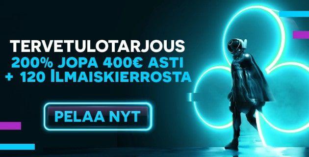 Playouwin Casinolta 400€ bonus ja 120 ilmaiskierrosta tai käteispalautus