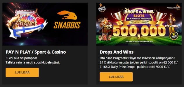 Snabbis Casino tarjoukset