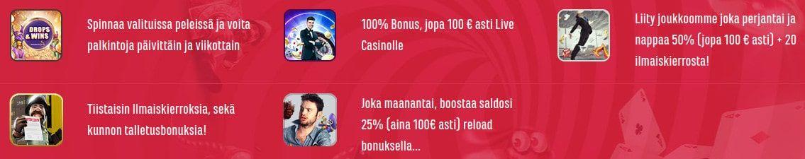 Spinit Casino tarjoukset
