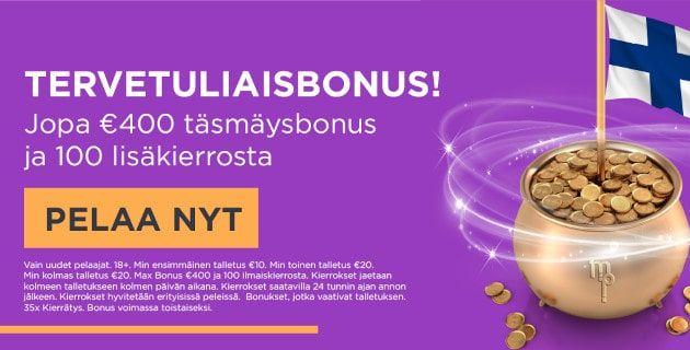 Millionpot Casino – 400€ ja 100 ilmaiskierrosta